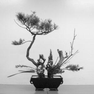 classical rikka style ikebana flower arrangement by Junko