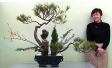 Junko in Kyoto with her Ikenobo Rikka style arrangement