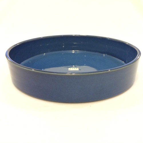 large flat round Ikebana container