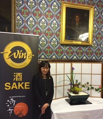 Junko arranges Ikebana at the House of Commons, London