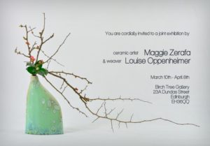 Maggie Zerafa exhibition flyer