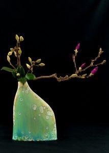 vase with camelia
